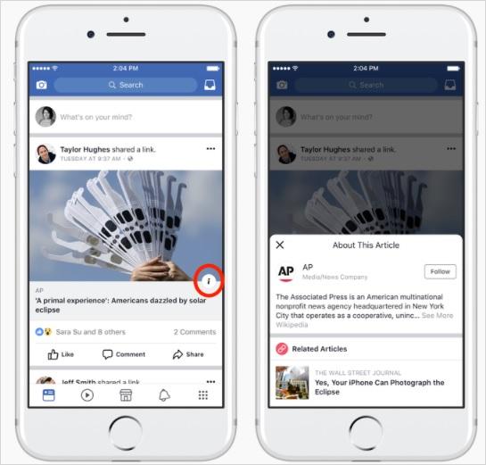 fake news e facebook