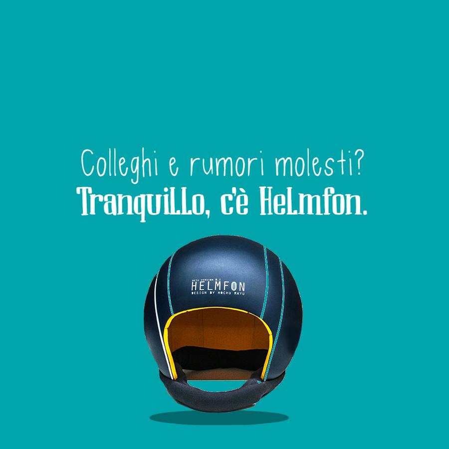 """Helmfon: il casco per """"spegnere"""" colleghi e rumori molesti"""