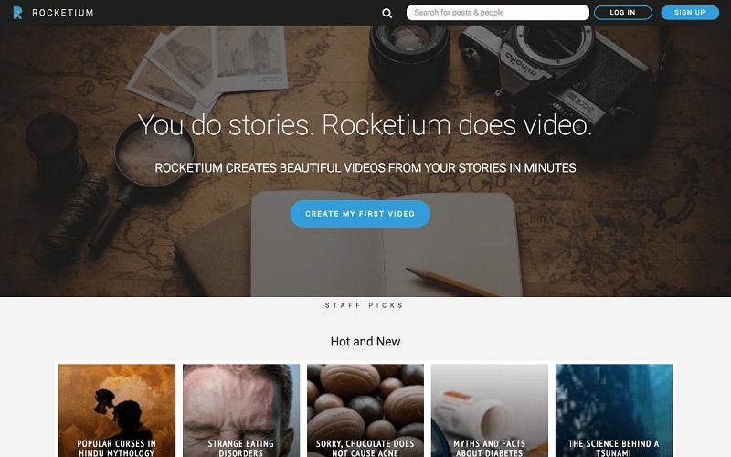 Rocketium, crea i tuoi video professionali