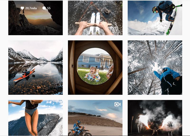 Pagina ufficiale GoPro su Instagram