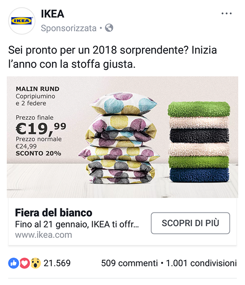 Facebook Ads Ikea