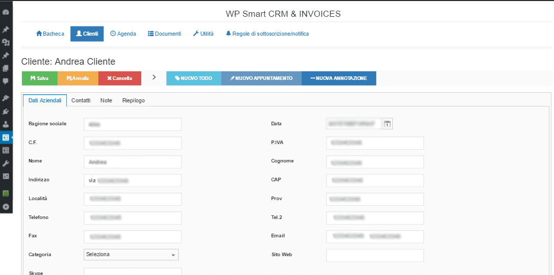 Wp Smart CRM & Invoices FREE