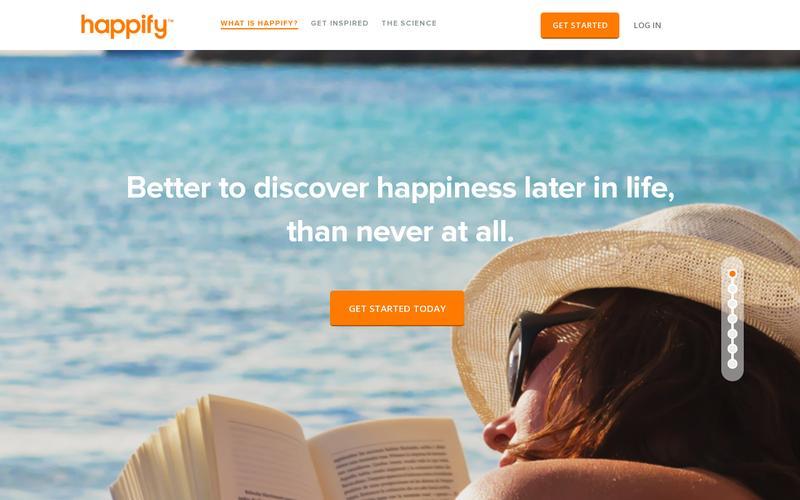 Come creare una landing page: Happify