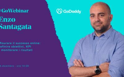 GoWebinar e GoDaddy: Enzo Santagata spiega come misurare il successo online